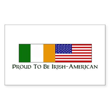 Proud to be Irish American Rectangle Sticker