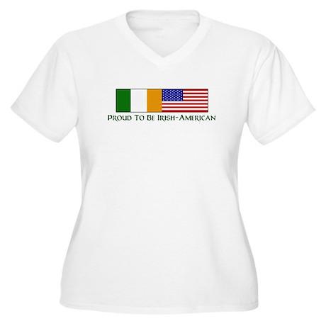 Proud to be Irish American Women's Plus Size V-Nec