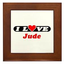 I Love Jude Framed Tile