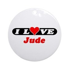 I Love Jude Ornament (Round)