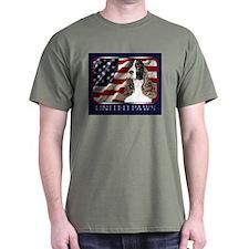 Springer Spaniel US Flag Dark Colored T-Shirt