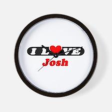 I Love Josh Wall Clock