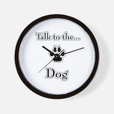 Dog Talk Wall Clock