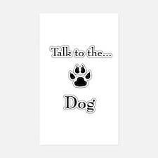 Dog Talk Rectangle Decal