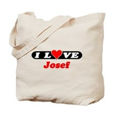 I Love Josef Tote Bag