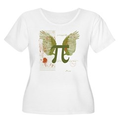 Winged Pi Women's Plus Size Scoop Neck T-Shirt