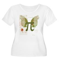 Winged Pi Women's Plus Size Scoop Neck T-Shirt
