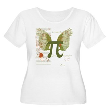 Winged Pi Women's Plus Size Scoop Neck T-Shirt | Gifts For A Geek | Geek T-Shirts