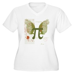 Winged Pi Women's Plus Size V-Neck T-Shirt
