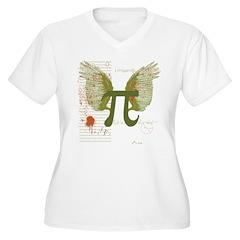 Winged Pi Women's Plus Size V-Neck T-Shirt