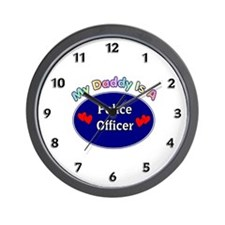 My Police Daddy Wall Clock