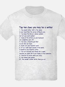 Writer Clues Kids Gray Grey T-Shirt