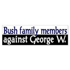 Bush Family Members Against George W.