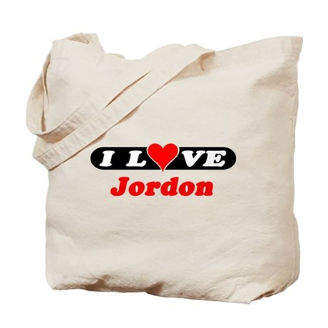 I Love Jordon Tote Bag