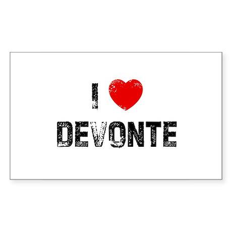 I * Devonte Rectangle Sticker