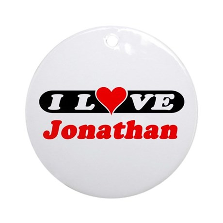 I Love Jonathan Ornament (Round)
