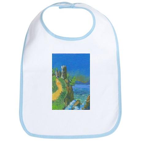 Castle Overlooking Cliffs Bib