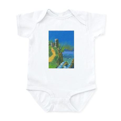 Castle Overlooking Cliffs Infant Bodysuit
