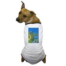 Castle Overlooking Cliffs Dog T-Shirt