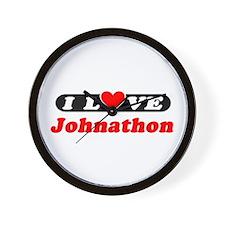 I Love Johnathon Wall Clock