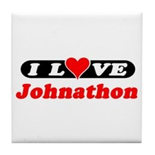 I Love Johnathon Tile Coaster