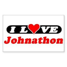 I Love Johnathon Rectangle Decal