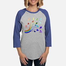 Butterflies and Rainbows Long Sleeve T-Shirt
