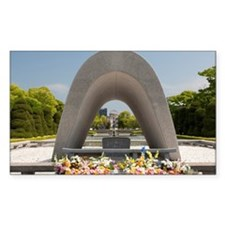 Monument in Hiroshima Peace Me Decal