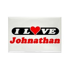 I Love Johnathan Rectangle Magnet