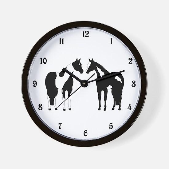Tobiano and Overo Wall Clock