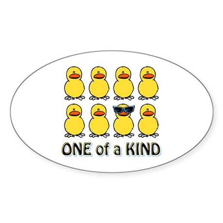 One Of A Kind Oval Sticker