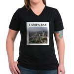 tampa bay gifts and t-shirts Women's V-Neck Dark T