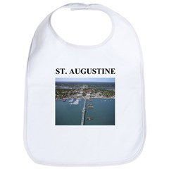st. augustine gifts and t-shi Bib