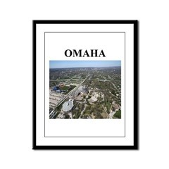 omaha gifts and t-shirts Framed Panel Print