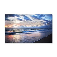 Seascape at sunset Car Magnet 20 x 12