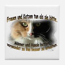 Frauen und Katzen tun als sie Tile Coaster