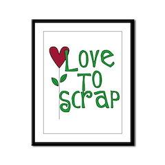 Love to Scrapbook - Heart Flo Framed Panel Print