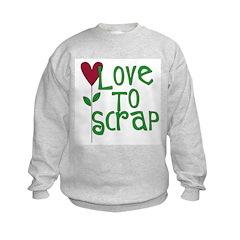 Love to Scrapbook - Heart Flo Sweatshirt