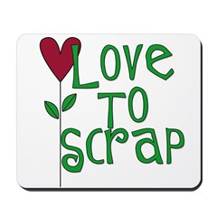 Love to Scrapbook - Heart Flo Mousepad