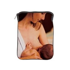 Close-up of a mother breastfeeding her iPad Sleeve