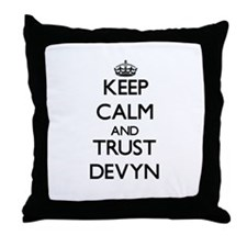 Keep Calm and TRUST Devyn Throw Pillow