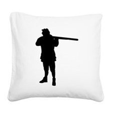 Hunter Silhouette Square Canvas Pillow
