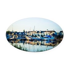 Nautical Village Marina Pickering  Oval Car Magnet