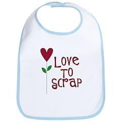 Love to Scrap - Red Bib