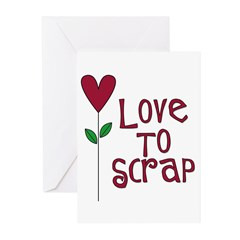 Love to Scrap - Red Greeting Cards (Pk of 10)