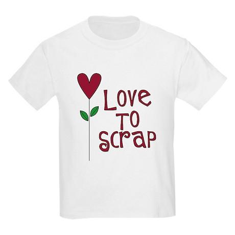 Love to Scrap - Red Kids Light T-Shirt