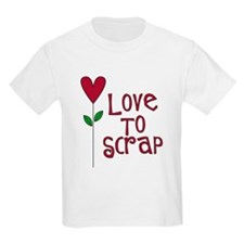 Love to Scrap - Red T-Shirt
