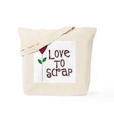 Love to Scrap - Red Tote Bag