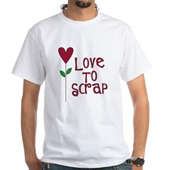 Love to Scrap - Red White T-Shirt