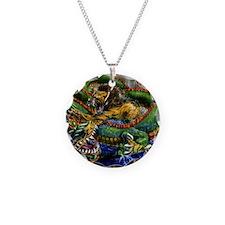 Dragon fighting liger Necklace